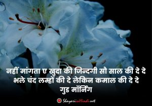 Good morning shayari in english