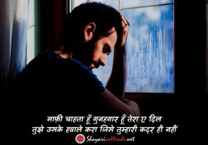 sorry shayari for love