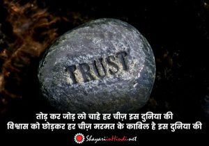 Shayari on Trust Broken